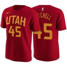 T-shirt en jersey rouge avec nom et numéro Donovan Mitchell City Edition Red