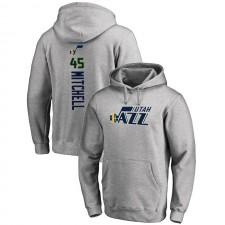 Utah Jazz Donovan Mitchell ^ 45 Backer Pullover Grey Sweat à capuche