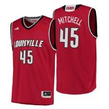 NCAA Louisville Cardinals ^ 45 Donovan Mitchell Maillot de basketball rouge authentique pour performance universitaire