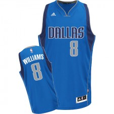NBA Deron Williams Swingman Women's Royal Blue Jersey - Adidas Dallas Mavericks &8 Road