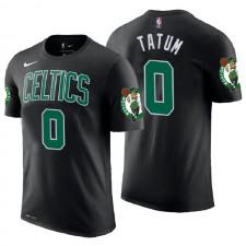 T-shirt en jersey avec nom et chiffre noir Jayson Tatum Black de Celtics de Boston ^ 0