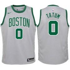 Boston Celtics pour la jeunesse ^ 0 Jersey City Edition Swaysman gris Jayson Tatum