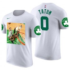 Boston Celtics ^ 0 Jayson Tatum White Dunk sur Lebron dans le jeu 7 T-shirt Nom et numéro