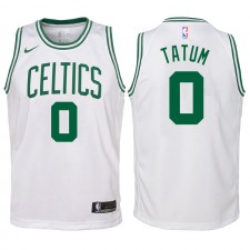 Boston Celtics juvénile ^ 0 Maillot Swingman blanc Jayson Tatum - Édition Association