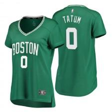 Boston Celtics Fanatics de marque ^ 0 Jayson Tatum Icon Edition Vert Réplique Jersey