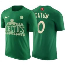 Jour de Noël 2017 Boston Celtics ^ 0 Tee-shirt Jayson Tatum - Pull-vacances vert