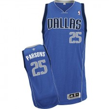 NBA Chandler Parsons Authentic Men's Royal Blue Jersey - Adidas Dallas Mavericks &25 Road