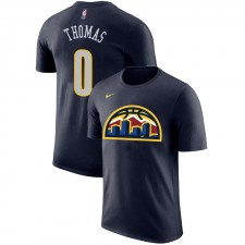 Nuggets de Denver Isaiah Thomas ^ 0 T-shirt Bleu marine