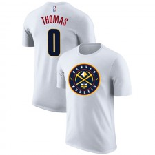 Nuggets de Denver Isaiah Thomas ^ 0 T-shirt blanc emblématique