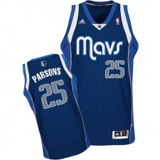NBA Chandler Parsons Swingman Men's Navy Blue Jersey - Adidas Dallas Mavericks &25 Alternate