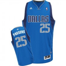 NBA Chandler Parsons Swingman Men's Royal Blue Jersey - Adidas Dallas Mavericks &25 Road