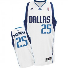 NBA Chandler Parsons Swingman Men's White Jersey - Adidas Dallas Mavericks &25 Home