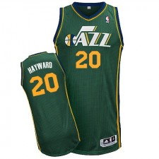 NBA Gordon Hayward Authentic Men's Green Jersey - Adidas Utah Jazz &20 Alternate