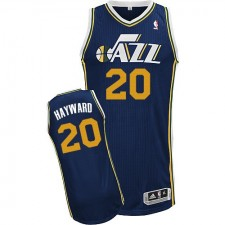 NBA Gordon Hayward Authentic Men's Navy Blue Jersey - Adidas Utah Jazz &20 Road