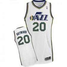 NBA Gordon Hayward Authentic Men's White Jersey - Adidas Utah Jazz &20 Home