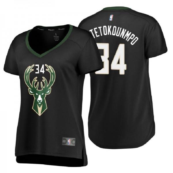 style sportif le maillot de basketball # 34 Giannis Antetokounmpo RAAVIN Milwaukee Bucks nouveau tissu brod/é