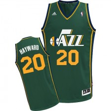NBA Gordon Hayward Swingman Men's Green Jersey - Adidas Utah Jazz &20 Alternate
