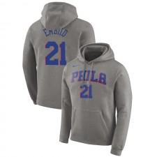 Philadelphia 76ers Joel Embiid ^ 21 Essential Pullover Gris À Capuche