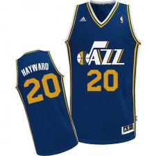NBA Gordon Hayward Swingman Men's Navy Blue Jersey - Adidas Utah Jazz &20 Road