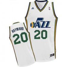 NBA Gordon Hayward Swingman Men's White Jersey - Adidas Utah Jazz &20 Home