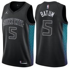 Charlotte Hornets ^ Jersey 5 Black Batman Swingman City Edition Nicolas Batum pour hommes