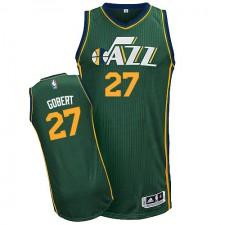 NBA Rudy Gobert Authentic Men's Green Jersey - Adidas Utah Jazz &27 Alternate