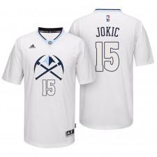 Nuggets NBA Denver pour hommes ^ 15 Jersey Swingman Alternate Pride 2016 Nikola Jokic - Blanc