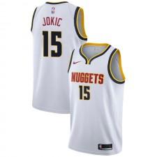 Nuggets de Denver Nikola Jokic ^ 15 Association Wihte Jersey