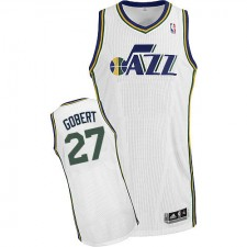 NBA Rudy Gobert Authentic Men's White Jersey - Adidas Utah Jazz &27 Home