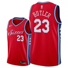 Hommes Philadelphia 76ers ^ 23 Maillot Jimmy Butler Statement Swingman - Rouge