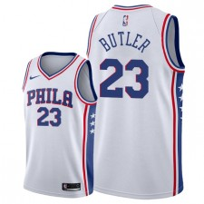 Hommes Philadelphia 76ers ^ 23 Maillot Swingman de l'Association Jimmy Butler - Blanc