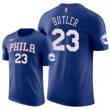 Hommes Philadelphia 76ers ^ 23 T-Shirt Jimmy Butler Icon Edition - Bleu