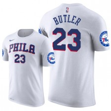 Hommes Philadelphia 76ers ^ 23 T-shirt Association Jimmy Butler - Blanc