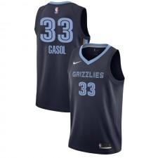 Memphis Grizzlies Marc Gasol ^ 33 Icon Navy Jersey