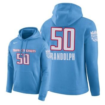 NBA HommesSacramento Kings # Pull à capuche Zach Randolph City Edition de 50 po - Bleu