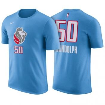 Sacramento Kings # T-chemise maillot avec nom et numéro de couleur bleue Zach Randolph Edition City