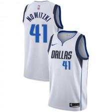 Dallas Mavericks Dirk Nowitzki ^ 41 Association Maillot Blanc