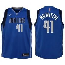 Dallas Mavericks pour la jeunesse ^ 41 Jersey Swingman Dirk Nowitzki Blue - Icon Edition