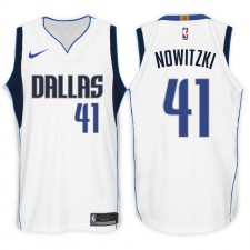 Maillot Swingman Swingman blanc de l'Association des 41 Mavericks de Dallas ^ 41 de l'Association Dirk Nowitzki