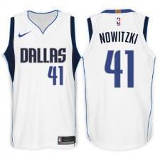 Maillot Swingman Swingman blanc de l'Association des 41 Mavericks de Dallas ^ 41 de l'Association Dirk Nowitzki