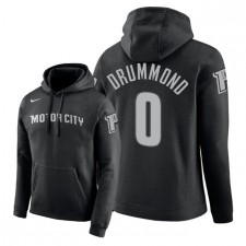 NBA Men Detroit Pistons ^ 0 Pullover à capuchon Andre Drummond City Edition - Noir