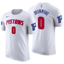 Pistons de Detroit pour hommes ^ 0 T-shirt maillot avec nom et numéro d'association blanche Andre Drummond White
