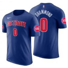 Pistons de Detroit pour hommes ^ 0 T-shirt en jersey avec nom et numéro d'icône bleue Andre Drummond