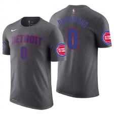 Pistons de Detroit pour hommes ^ 0 T-shirt en jersey avec nom et numéro de déclaration de Grey Grey