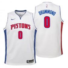 Jeunes Pistons de Detroit ^ 0 Maillot Swingman Blanc de l'Association Andre Drummond