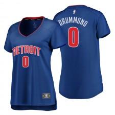 Pistons de Detroit pour femmes de marque Fanatics ^ 0 Andre Drummond Réplique Royale Icon Edition