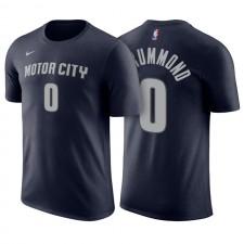 Pistons de Detroit ^ 0 Tee shirt Jersey Nom et numéro bleu marine Andre Drummond City Edition