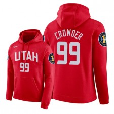 Chandail à capuchon NBA Men Utah Jazz ^ 99 Jae de Crowder City Edition - Rouge