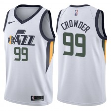 Maillot Hommes Swingman Blanc Jae Crowder Association ^ 99 de l'Utah Jazz