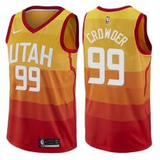 Maillot pour homme Swingman Red de l'Utah Jazz ^ 99 Jae Crowder City Edition rouge
